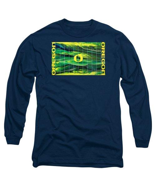 Oregon Football Long Sleeve T-Shirt by Michael Cross