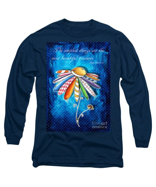 Original Hand Painted Daisy Quilt Painting Inspirational Art Quote By Megan Duncanson Long Sleeve T-Shirt