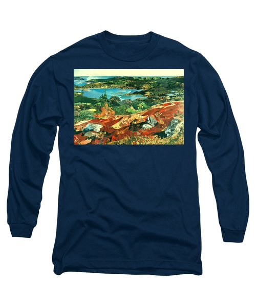 Overlooking The Bay Long Sleeve T-Shirt by Robin Birrell