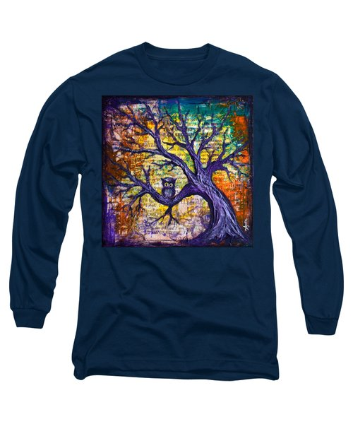 Long Sleeve T-Shirt featuring the painting Wisdom Of Gratitude by Agata Lindquist