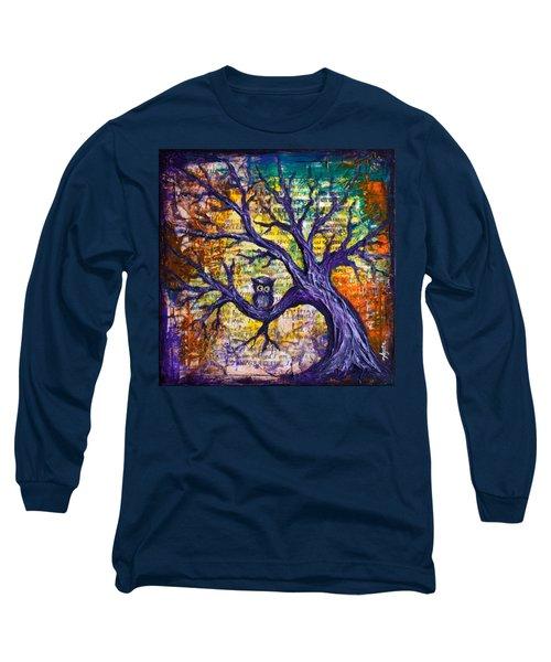 Wisdom Of Gratitude Long Sleeve T-Shirt by Agata Lindquist