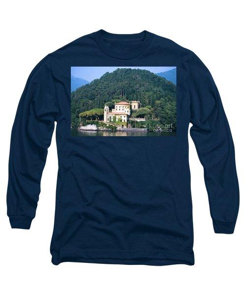 Long Sleeve T-Shirt featuring the photograph Palace At Lake Como Italy by Greta Corens