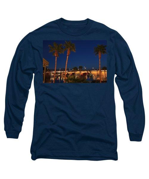 Palms At London Bridge Long Sleeve T-Shirt