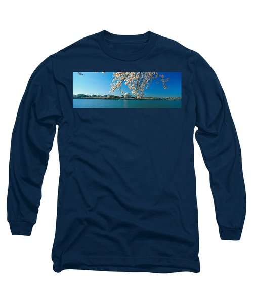 Panoramic View Of Jefferson Memorial Long Sleeve T-Shirt by Panoramic Images
