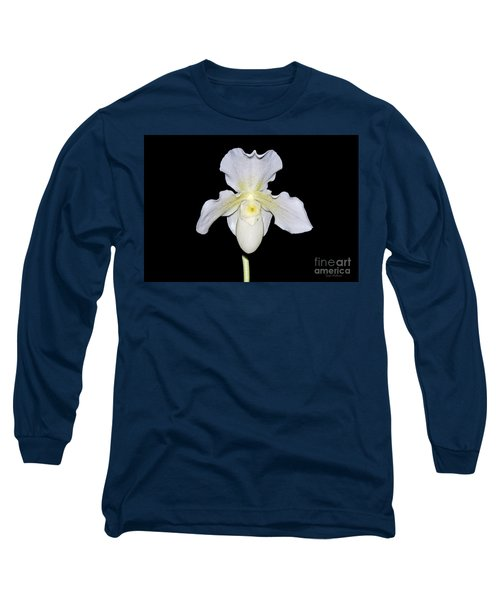 Paphiopedilum Orchid F.c. Puddle Superbum  Long Sleeve T-Shirt