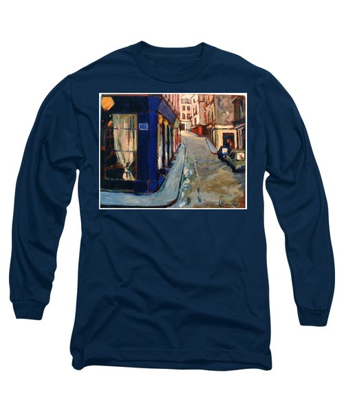 Paris Cityscape Long Sleeve T-Shirt by Walter Casaravilla