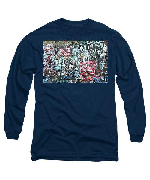 Long Sleeve T-Shirt featuring the photograph Paris Mountain Graffiti by Kathy Barney