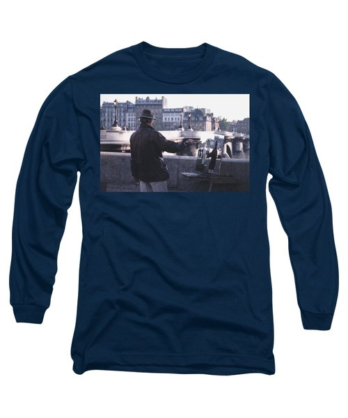 Long Sleeve T-Shirt featuring the photograph Paris Painter Inspiration Magritte by Tom Wurl