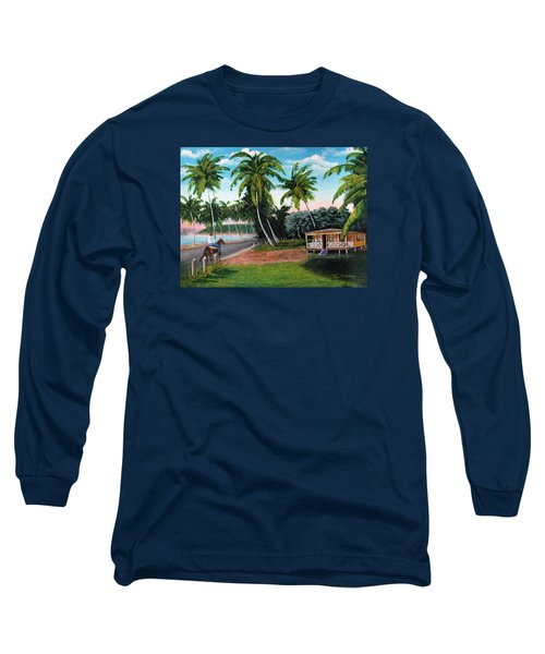 Paseo Por La Isla Long Sleeve T-Shirt by Luis F Rodriguez