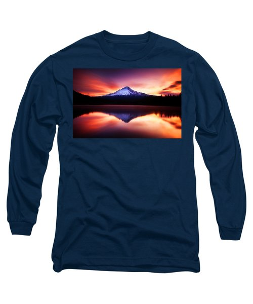Peaceful Morning On The Lake Long Sleeve T-Shirt by Darren  White