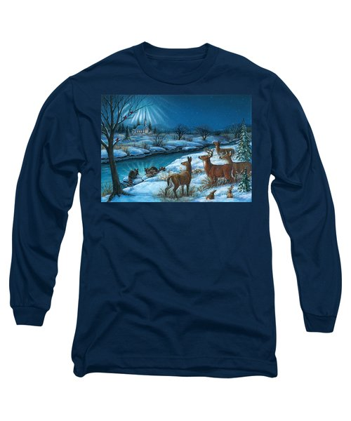 Peaceful Winters Night Long Sleeve T-Shirt