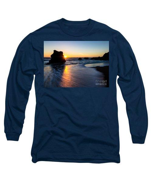 Long Sleeve T-Shirt featuring the photograph Peeking Sun by CML Brown