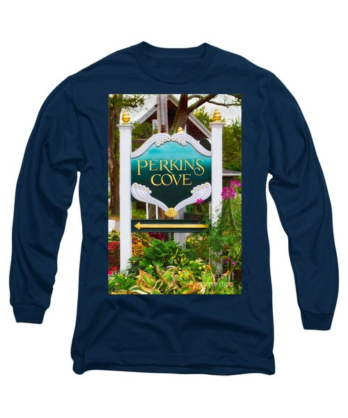 Perkins Cove Sign Long Sleeve T-Shirt by Jerry Fornarotto
