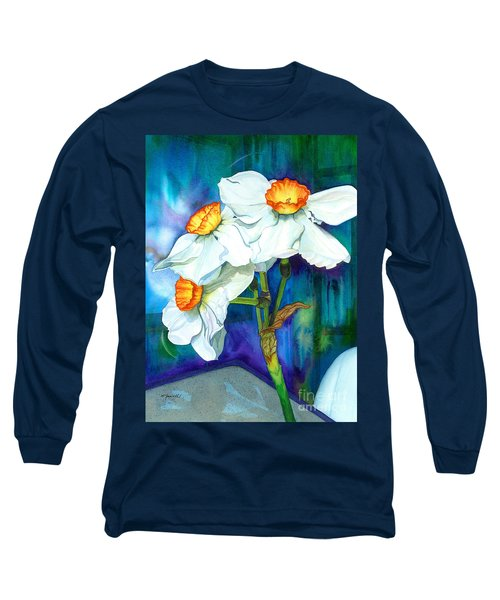 Petal Portrait Long Sleeve T-Shirt by Barbara Jewell