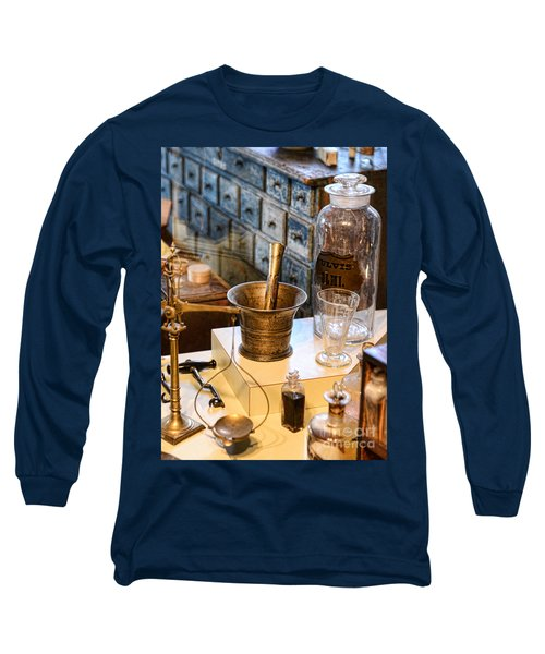 Pharmacist - Brass Mortar And Pestle Long Sleeve T-Shirt