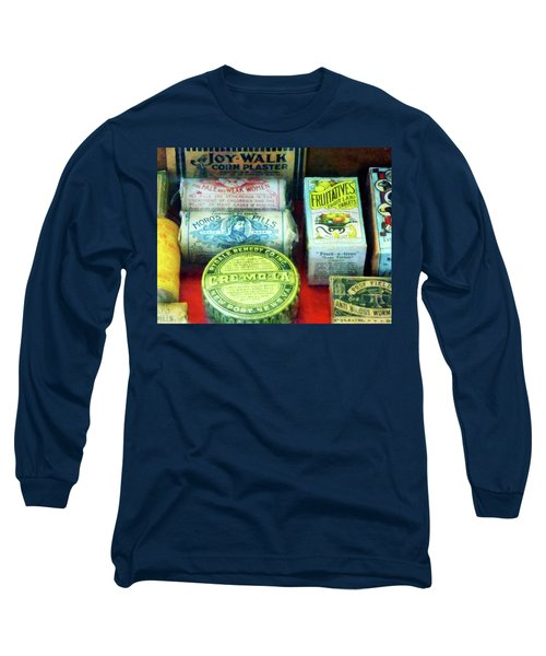 Long Sleeve T-Shirt featuring the photograph Pharmacy - For Aches And Pains by Susan Savad