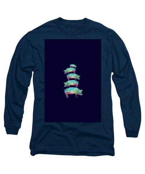 Pig Stack Long Sleeve T-Shirt