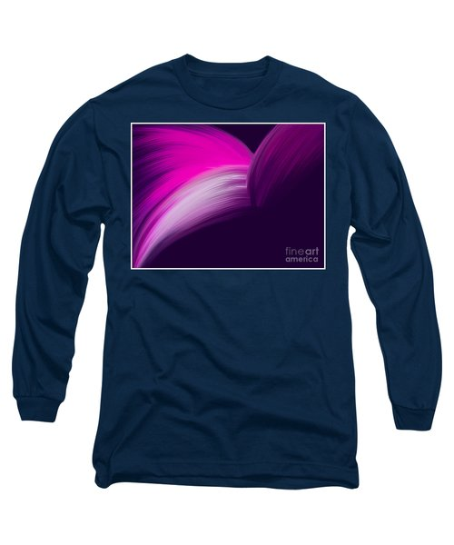 Pink And Purple Curves Long Sleeve T-Shirt