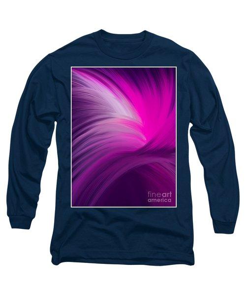 Pink And Purple Swirls Long Sleeve T-Shirt