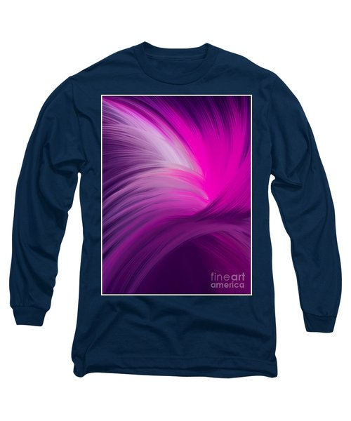 Pink And Purple Swirls Long Sleeve T-Shirt