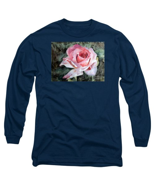 Pink Rose Greg Long Sleeve T-Shirt by Greta Corens