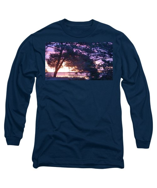 Pink Sunrise Long Sleeve T-Shirt by Rogerio Mariani
