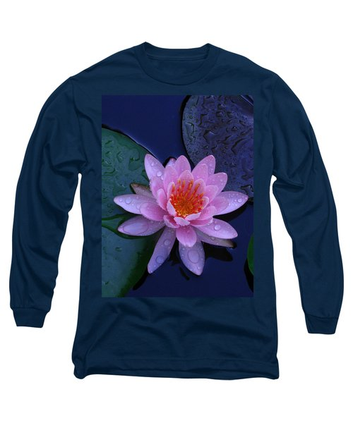 Long Sleeve T-Shirt featuring the photograph Pink Waterlily by Raymond Salani III