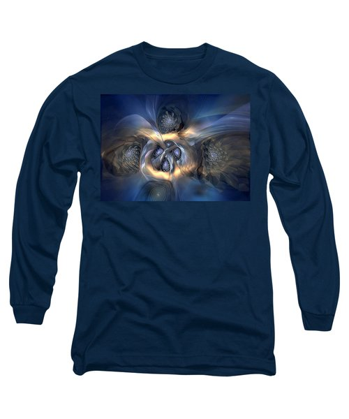 Long Sleeve T-Shirt featuring the digital art Pleasant Effusion by Casey Kotas