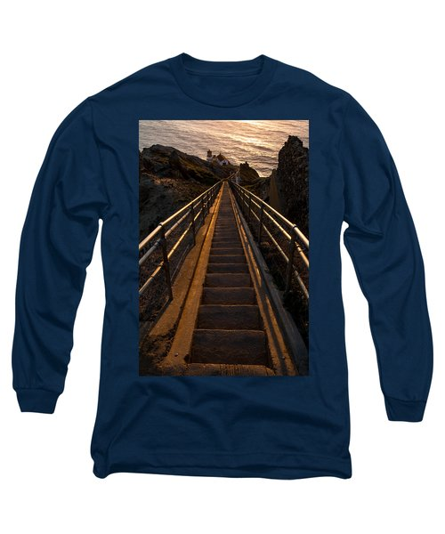 Point Reyes Lighthouse Staircase Long Sleeve T-Shirt