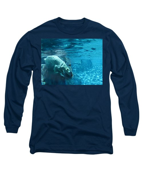 Polar Bear Long Sleeve T-Shirt by Steve Karol