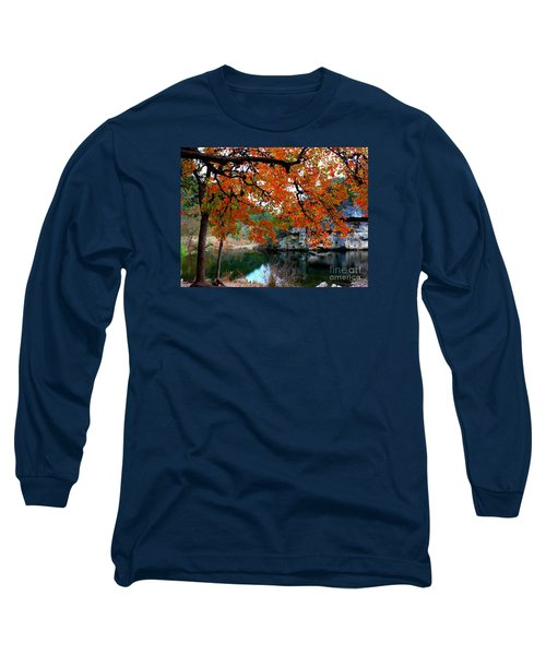 Fall At Lost Maples State Natural Area Long Sleeve T-Shirt