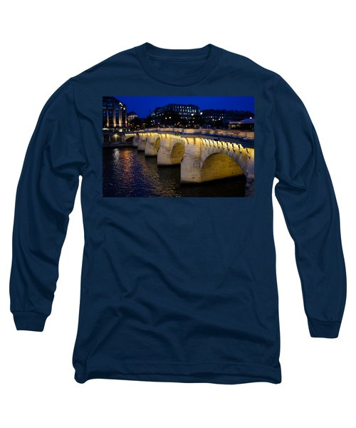 Pont Neuf Bridge - Paris - France Long Sleeve T-Shirt