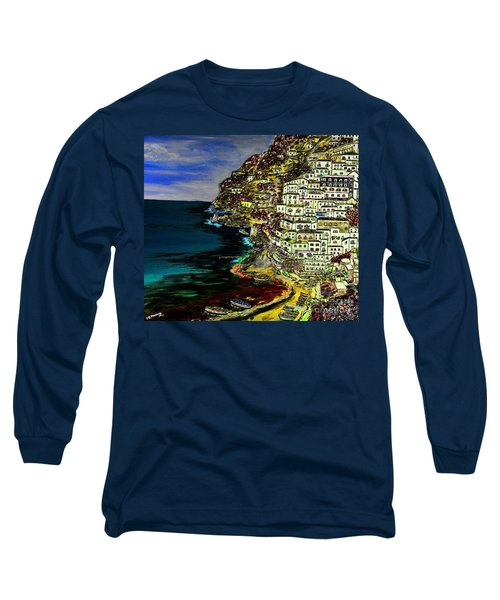 Positano At Night Long Sleeve T-Shirt