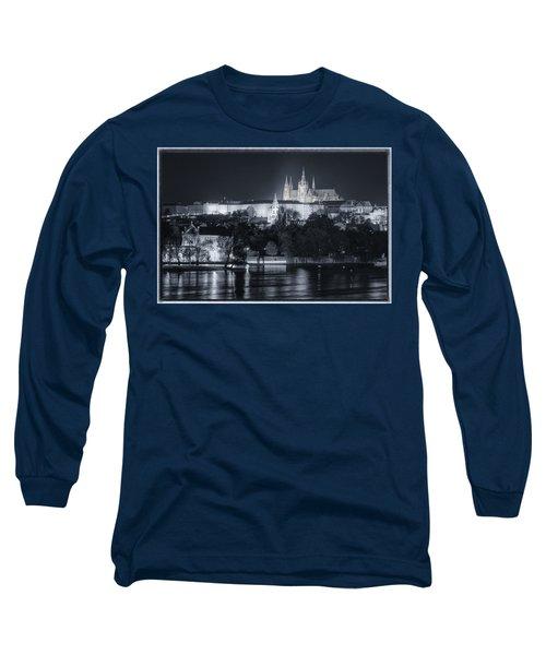 Prague Castle At Night Long Sleeve T-Shirt