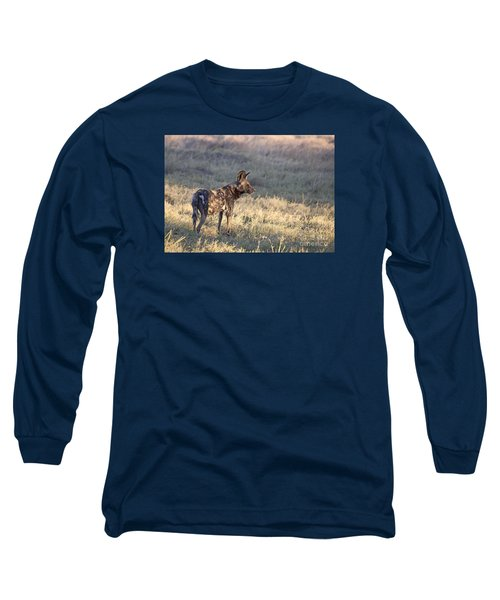 Pregnant African Wild Dog Long Sleeve T-Shirt