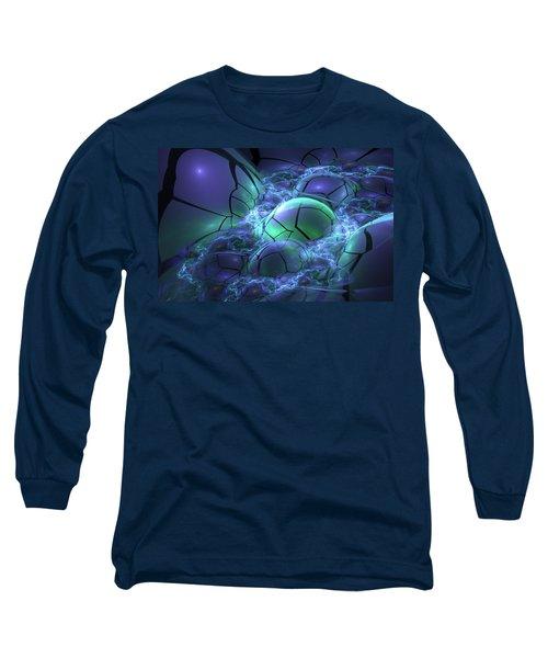 Long Sleeve T-Shirt featuring the digital art Primordial Soup  by Svetlana Nikolova