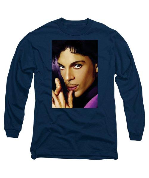Prince Artwork Long Sleeve T-Shirt by Sheraz A