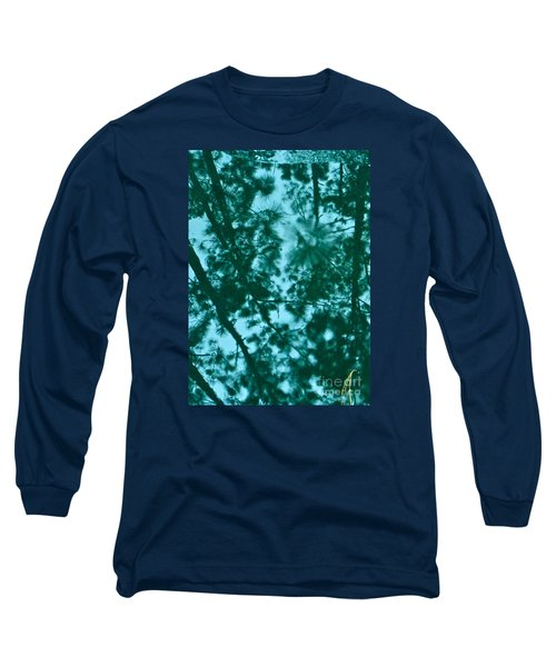Puddle Of Pines Long Sleeve T-Shirt by Joy Hardee