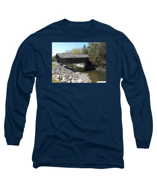 Pumping Station Covered Bridge Long Sleeve T-Shirt by Catherine Gagne