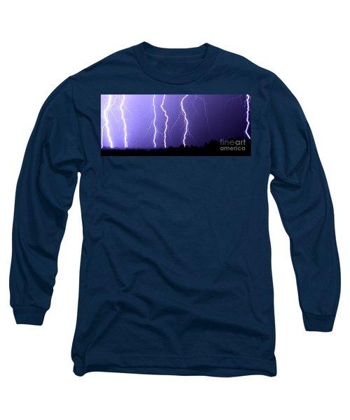 Purple Rain Lightning Long Sleeve T-Shirt