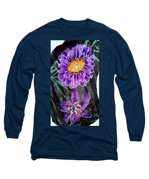 Long Sleeve T-Shirt featuring the photograph Purple Silk by Fortunate Findings Shirley Dickerson