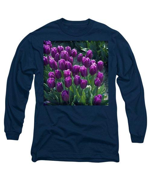 Purple Tulips Long Sleeve T-Shirt