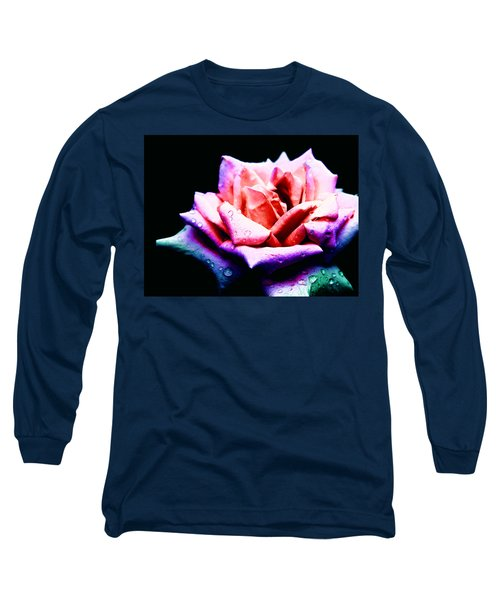 Rachel's Rose Long Sleeve T-Shirt by Rachel Mirror
