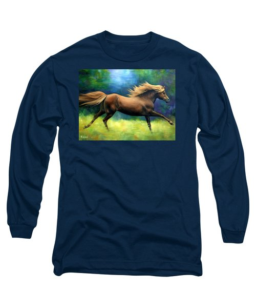 Racing  The Wind Long Sleeve T-Shirt by Vivien Rhyan
