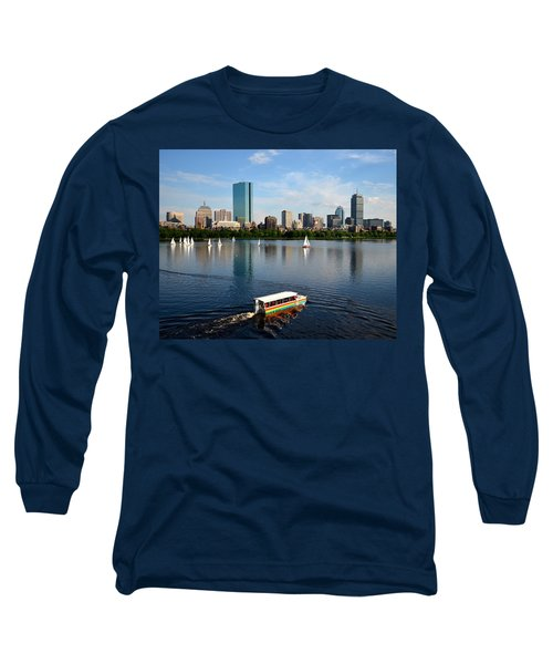 Rainbow Duck Boat On The Charles Long Sleeve T-Shirt