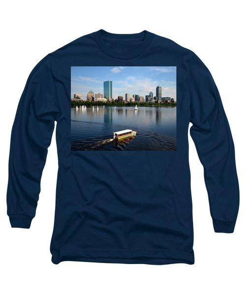 Rainbow Duck Boat On The Charles Long Sleeve T-Shirt