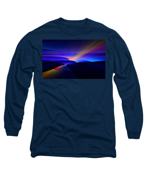 Rainbow Pathway Long Sleeve T-Shirt by GJ Blackman