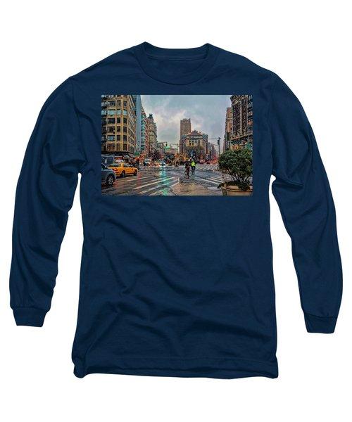 X-ing Broadway Long Sleeve T-Shirt by Jeffrey Friedkin