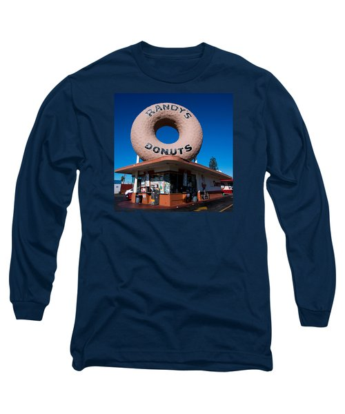Randy's Donuts Long Sleeve T-Shirt by Stephen Stookey