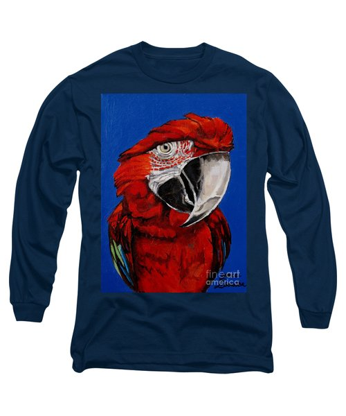 Razzy Red - Bird- Macaw Long Sleeve T-Shirt